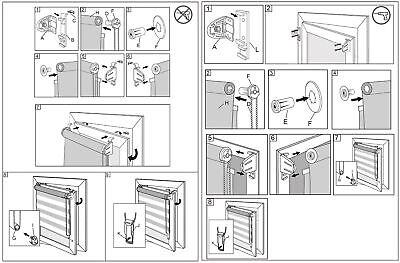 Doppelrollo Klemmfix ohne Bohren Duo Rollo Zebra Seitenzug Fenster Tür #324-a 2