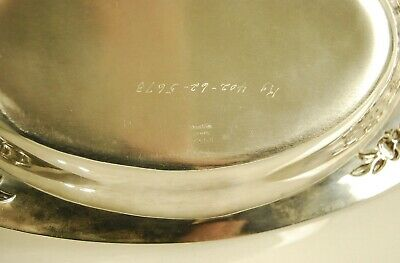 S. Kirk & Son Sterling Silver Repousse Bread Tray #735R 6