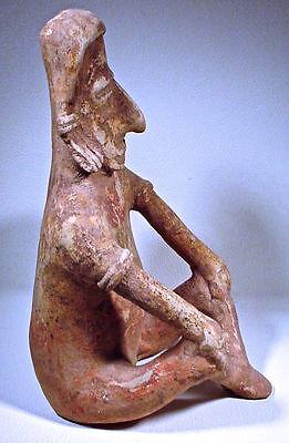 Pre-Columbian Large Jalisco Figure Ex: Sothebys '78 3