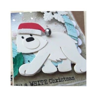 Eline's Polar Bear Metal Die Cut & Stamp Set Marianne Cutting Dies Christmas 4