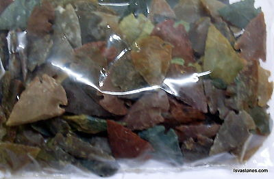 *** 35 pc lot flint arrowhead OH collection project spear points knife blade *** 9
