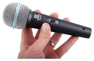 DJ PA Gesangs Live Mikrofon Set Mikrophon Ständer Klinke Mikro Kabel Mic Klemme 2