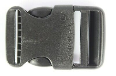 Rounded Side Release Buckles Black Plastic Clips Rucksacks Replacement All Sizes 4