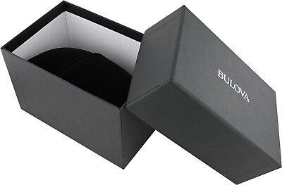 Bulova Men's 98D109 Quartz Diamond Markers Black Bracelet 40mm Watch 4