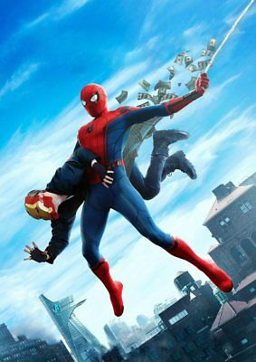 Marvel MCU Captain America, Spider-Man, Avengers  A5 A4 A3 Textless movie Poster 6