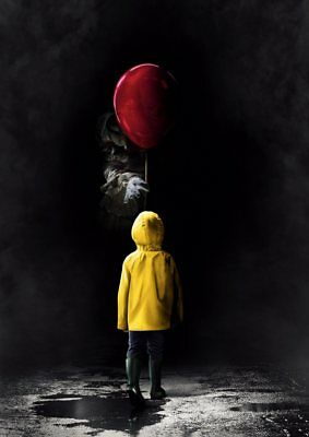 Stephen King   IT  2017 PENNYWISE the Dancing Clown A5 A4 A3 Textless Poster 3