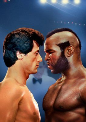 ROCKY BALBOA, MR T Texless Movie Posters A5 A4 A3 7