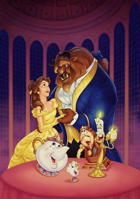 Classic Disney: Frozen, Lion King, Beauty & the Beast  A5 A4 A3  Textless Poster 6