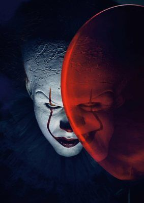 Stephen King   IT  2017 PENNYWISE the Dancing Clown A5 A4 A3 Textless Poster 2