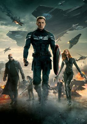 Marvel MCU Captain America, Spider-Man, Avengers  A5 A4 A3 Textless movie Poster 5
