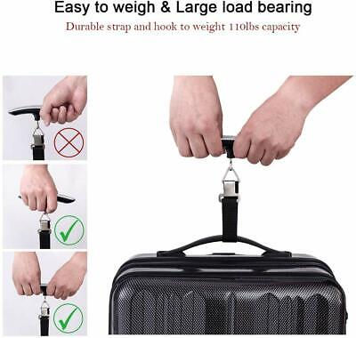 Portable Travel LCD Digital Hanging Luggage Scale Electronic Weight 110lb / 50kg 6