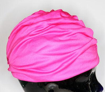 vintage Damen Bade Mütze Kappe Haube 80er violett gebraucht #101