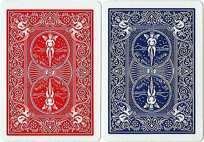 2 x Bicycle Playing Cards Decks 1 Red & 1 Blue Casino Poker Snap Family Games 4