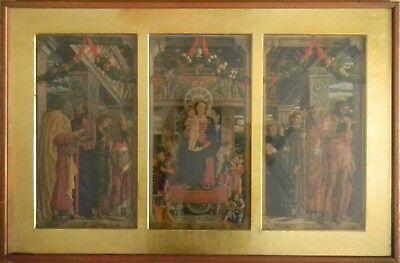 Quadro Di Vecchia Stampa F.lli Alinari - Trittico Di Andrea Mantegna 4