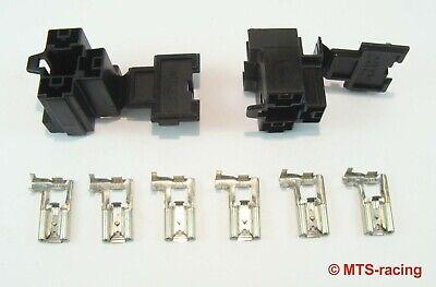 2x H4 Verschlußkappe Keramik Fassung Stecker Sockel Licht Plug Umrüsten Bilux H4