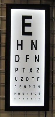 Eye Test Chart Wall light box mounted medical opticians Display Games Room Decor