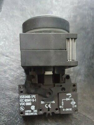 Siemens Push Button W/ 3Sb3400-1Pe ((R1S2.8B3)) 2