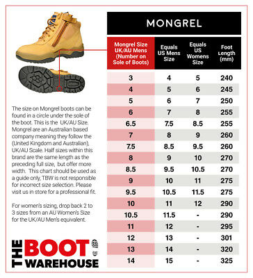Mongrel 261050 Work Boots. Steel Toe Safety.  Wheat Zip-Sider,  PRESS STUD CLIP! 2