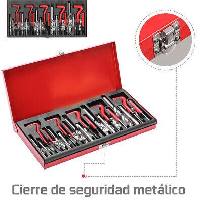 Kit Reparacion De Rosca Helicoil M5, M6, M8, M10 M12 131 Piezas Reparador -1234 4