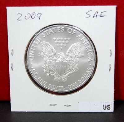 2009 Silver American Eagle BU 1 oz Coin US $1 Dollar Uncirculated from PCGS Tube 4
