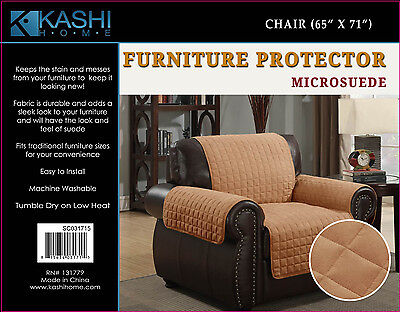 1 Of 7free Shipping Kashi Home Micro Suede Furniture Pet Protector Couch Sofa Love Seat Chair Camel