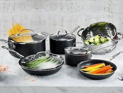 Granite Rock 15 Piece Nonstick Ultra Durable Complete Cookware and Utensil Set! 3