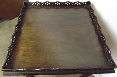 Antique Victorian Decorative Mahogany Silver Occasional Table Fretwork Gallery 7