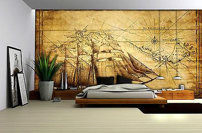 Vließ Fototapete Tapete Wandbild Schiff auf dem Bretter 310029/_VEMVT