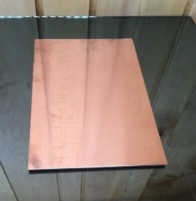 """1/8"""" COPPER SHEET PLATE NEW 8""""x12"""" .125 THICK *CUSTOM 1/8 SIZES AVAILABLE* 2"""