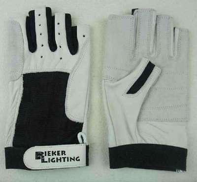 S 7 ohne Finger Arbeitshandschuhe Roadie Handschuhe Roadiehandschuhe Leder Gr