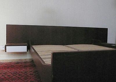 Tête De Lit Chevet Integre Avec Tiroir En Teck Vintage Design Scandinave 1970 2