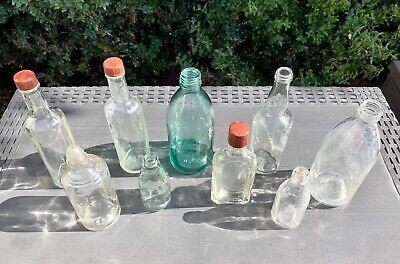 9x alte Apothekerflaschen vor 1945 Wehrmacht Lazarett Glashütte Holzminden 10