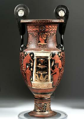 Published Greek Apulian Volute Krater, ex-Christie's Lot 27