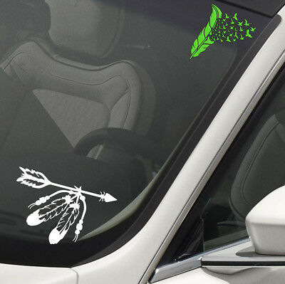 Sticker Decal Pair Of American Native Indian Axes Crossed car st5 RS83W