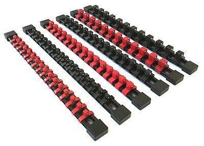 6 Goliath Industrial Abs Mountable Socket Rail Rack Holder Organizer 1/4 3/8 1/2 4