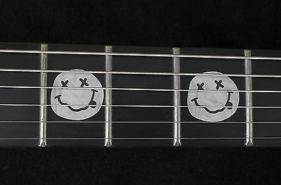 Kurt Cobain Nirvana Smiley Face Vinyl Inlay Set for Fender or ANY BASS /& GUITAR