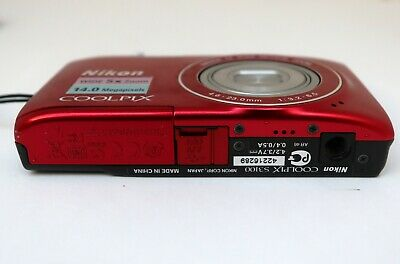 NIKON COOLPIX S3100 14mp 4,6-23,0mm. Wide 5x zoom Nikkor HD movie 2,7-in LCD VR 9