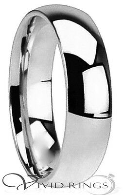 Mens & Womans Stainless Steel Wedding Band High Polish Ring Size 3.5 to 14.5 6