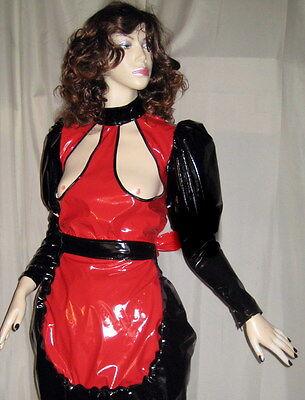 Lackoverall ,Busenfreier Overall, alle Größen,Vinyloverall long with open Breast