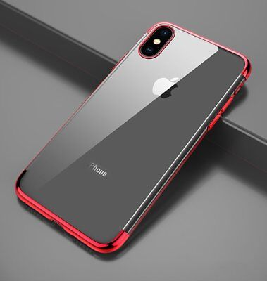 Ultra Slim Shockproof Silicone Clear Cover Case for iPhone XR XS MAX X 8 7 6s 6 9