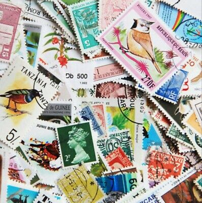 1000s DIFFERENT Mint/Used WORLDWIDE Stamps Collection Lot Pack of 100 - BONUS!!! 8