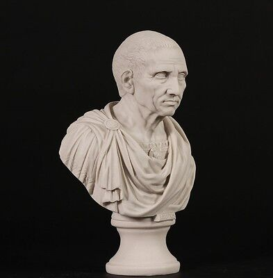 Roman Emperor Brutus Bust Carrara Marble Sculpture. Made in UK. 6 • CAD $126.67