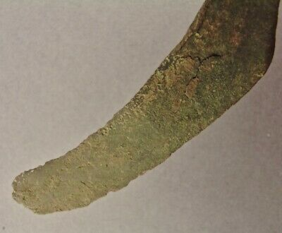 OLD COPPER CULTURE Fine ROUND TIP CURVED KNIFE Vilas Wisconsin Gogebic Mich 32 8