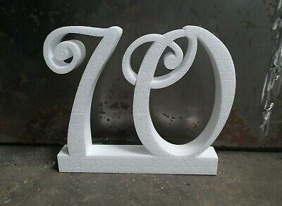 25x4 cm persönliche Styropor Buchstaben für Geburtstage Saal DIY StyroBuchstabe