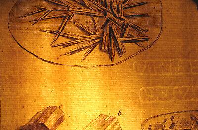 Chemiker Chemie Orig Kupferstich 1770 Apotheker Kristalle Versuche Chemikalien 2