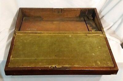Antique Mahogany Military Campaign English Writing Slope 8