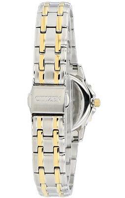 Citizen Eco-Drive Women's EW2364-50A Two-Tone Diamond Bezel Bracelet 26mm Watch 7