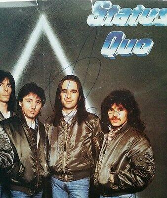 "Status Quo 7"" Dear John Rare Signed! Autograph Rick Parfitt & Francis Rossi"