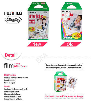 Fujifilm Instax Mini Film Fuji instant photos 7s 8 90 25 50 SP-1 Polaroid 300 2