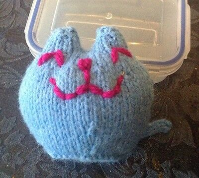 Urgent Appeal For Sick Kitten - Hand Knitted Catnip Miaow Toy 4